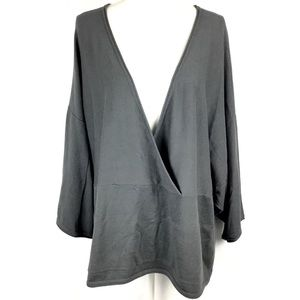 Pure Jill J. Jill Gray Cashmere Top XL Knit Kimono